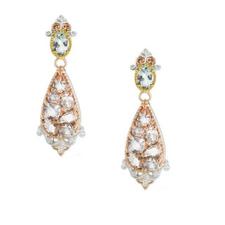 One-of-a-kind Michael Valitutti Morganite and Aquamarine Dangling Earrings