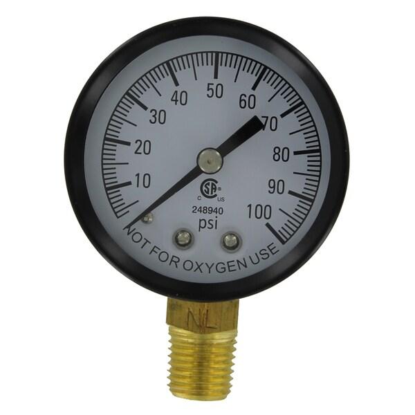 """Simmons 1305 100 Psi 1/4"""" Low Lead Pressure Gauge"""