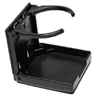"Attwood 11654-3 3-7/8"" X 3-3/4"" Black Drink Holders Fold Up"