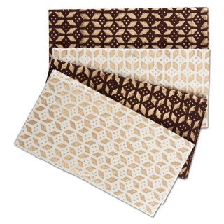 TAG Thanksgiving Geo Gold Print Napkin Set Of 4