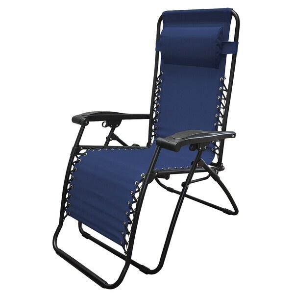 Caravan Canopy Sports 80009000020 Oversized Blue Zero Gravity Chair
