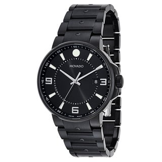 Movado Men's 0606809 SE Pilot Black Stainless Steel Swiss Quartz Watch