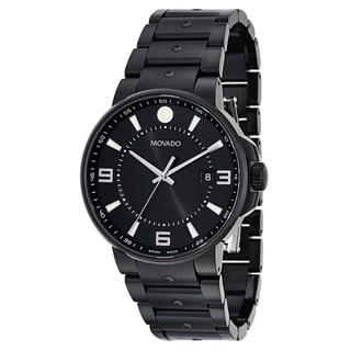 Movado Men's 0606809 SE Pilot Black Stainless Steel Swiss Quartz Watch