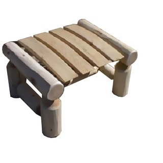 White Cedar Log Rustic Ottoman / Foot Stool
