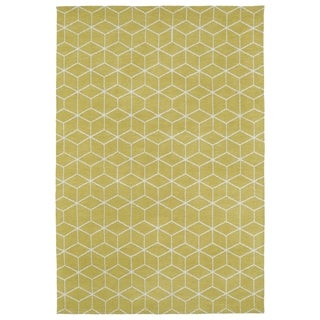 Super Soft Yellow Geo Microfiber Rug (9'0 x 12'0)