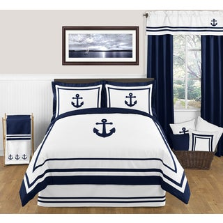 Sweet Jojo Designs Anchors Away 3-piece Full/ Queen-size Comforter Set