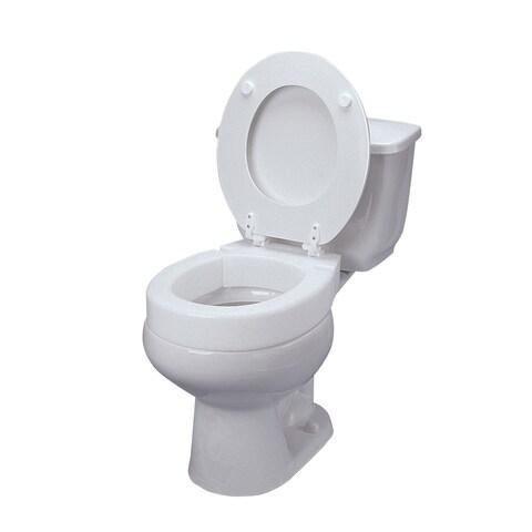 DMI Hinged Elevated Standard Toilet Seat Riser