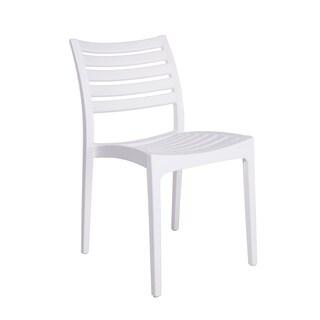 Morrow Polypropylene Stacking Chair (Set of 4)