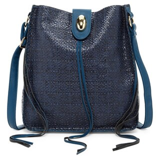 Pink Haley Imogen Faux Leather Crossbody Handbag