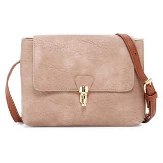 Pink Haley Iona Belt Faux Leather Crossbody Handbag