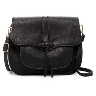 Pink Haley Pola Faux Leather Crossbody Handbag