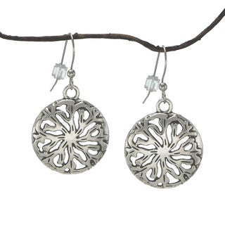 Jewelry by Dawn Round Antique Pewter Medallion Earrings