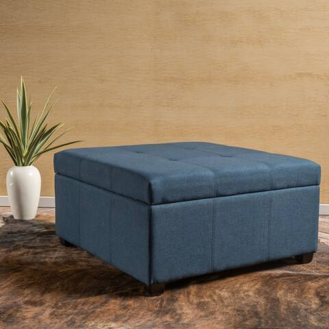 Carlsbad Fabric Storage Ottoman by Christopher Knight Home