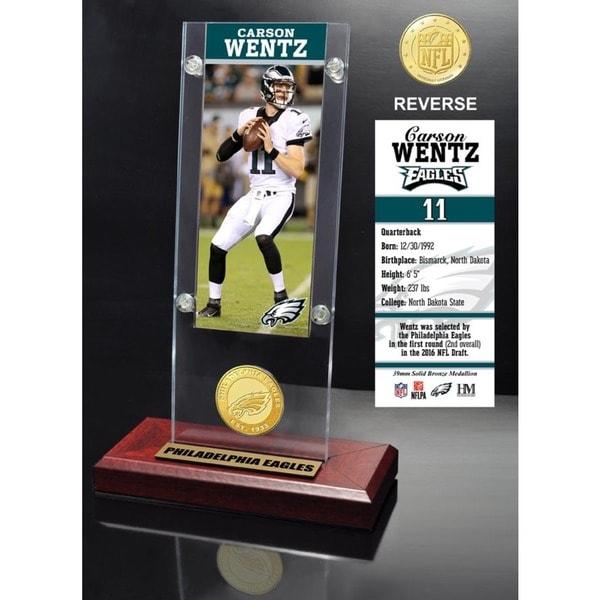 Carson Wentz Ticket & Bronze Coin Ticket Acrylic