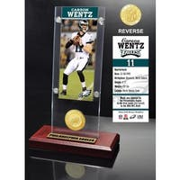 Carson Wentz Ticket & Bronze Coin Ticket Acrylic