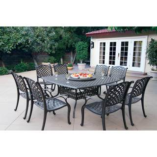 Gracewood Hollow Chang Cast Aluminum 10-piece Dining Set  sc 1 st  Overstock & Size 9-Piece Sets Outdoor Dining Sets For Less | Overstock