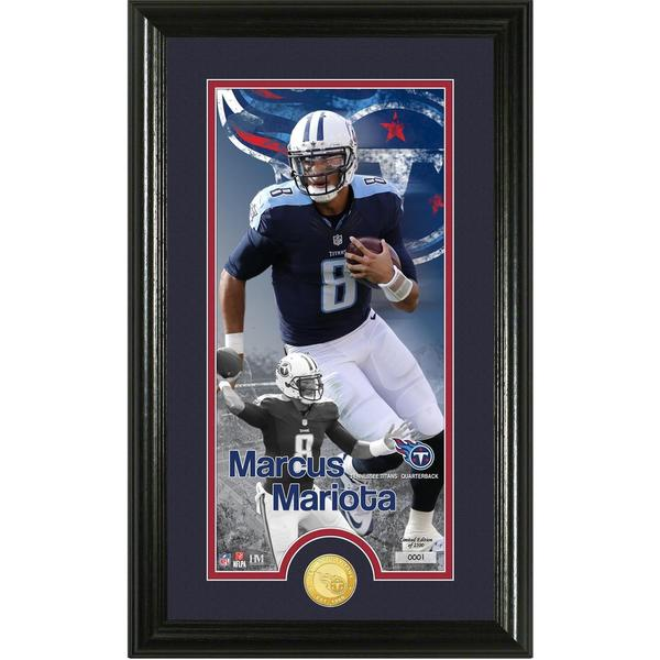 "Marcus Mariota ""Supreme"" Bronze Coin Panoramic Photo Mint"