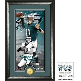 "Carson Wentz ""Supreme"" Bronze Coin Panoramic Photo Mint"