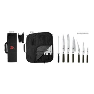 Shun DMS0899 Stainless Steel 8-piece Classic Student Knife Set