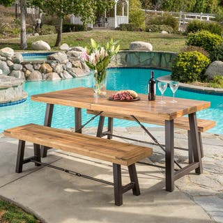 Outdoor Puerto Acacia Wood 3-piece Picnic Dining Set by Christopher Knight Home|https://ak1.ostkcdn.com/images/products/12917225/P19671908.jpg?impolicy=medium