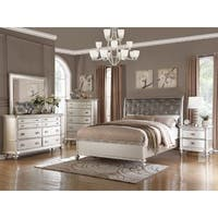 Silver Orchid Olivia 6-piece Silver Bedroom Furniture Set