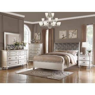 Saveria 6 Piece Silver Bedroom Furniture Set
