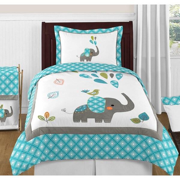 Shop Sweet Jojo Designs Mod Elephant 3 Piece Full Queen
