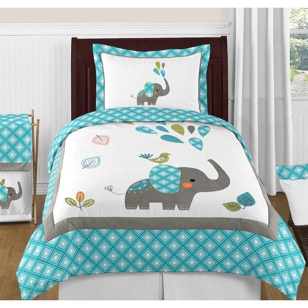 Sweet Jojo Designs Mod Elephant 3-piece Full/ Queen-size Comforter Set