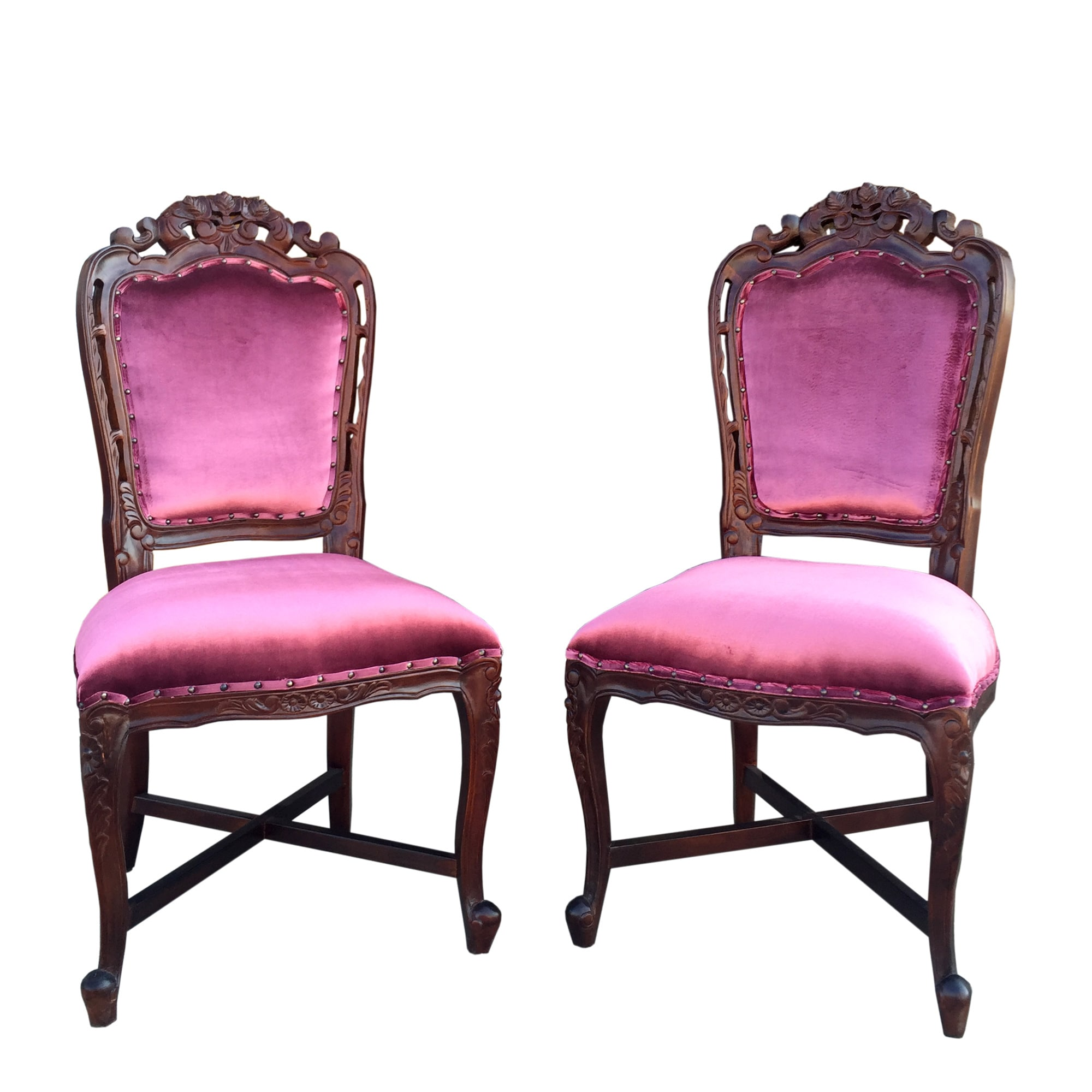 Handmade D-Art French Victorian Dining Chairs (2pcs-Set) ...