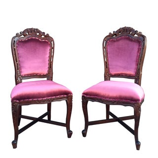 Handmade D-Art French Victorian Dining Side Chairs (2pcs-Set) (Indonesia)