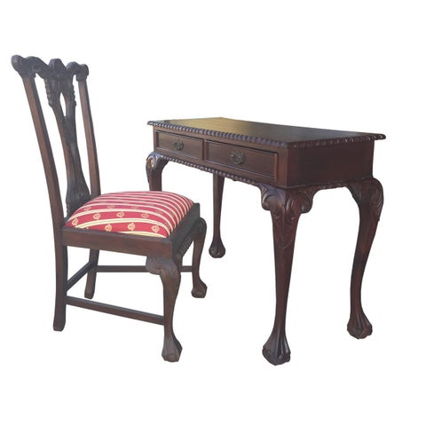 Handmade D-Art England Writing Desk 2 drw and 3 drw and 2 England side Chairs (Indonesia)