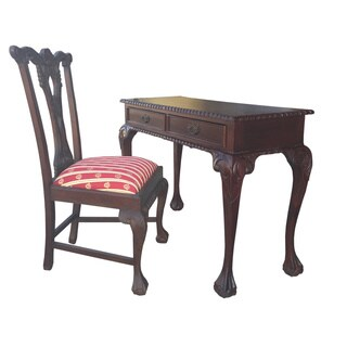 D-Art England Writing Desk 2 drw and 3 drw and 2 England side Chairs