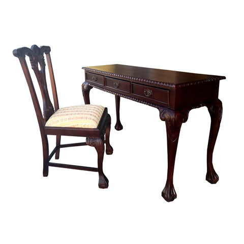 Handmade D-Art England Writing Desk 3 drw and England Side Chair (Indonesia)
