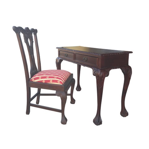 Handmade D-Art England Writing Desk 2 drw and England Side Chair (Indonesia)