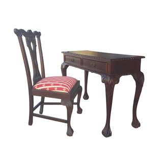 D-Art England Writing Desk 2 drw and England Side Chair