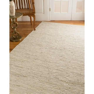 Natural Area Rugs Hand Loomed Brianna Leather Cotton Rug, (6' x 9')