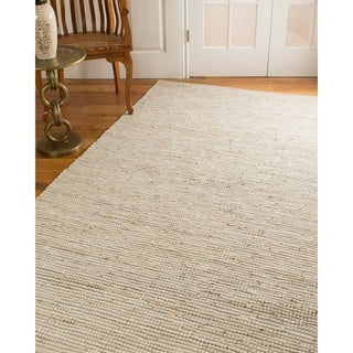 Natural Area Rugs Hand Loomed Brianna Leather Cotton Rug, (5' x 8')