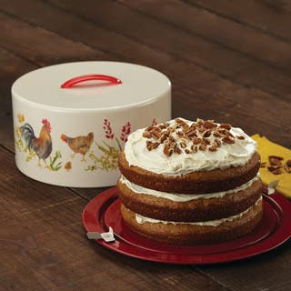Paula Deen Pantryware Rooster-themed Metal Cake and Pie Carrier https://ak1.ostkcdn.com/images/products/12917326/P19671982.jpg?impolicy=medium