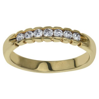 10k Yellow Gold 1/4ct TDW Diamond Wedding Stack Band (H-I, I2-I3) by Ever One