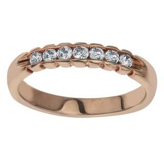 10k Rose Gold 1/4ct TDW Diamond Wedding Stack Band (H-I, I2-I3)