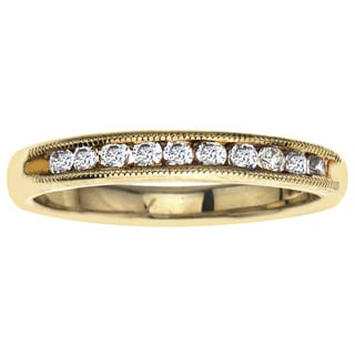 10k Yellow Gold 1/4ct TDW Diamond Wedding Stack Band (H-I, I2-I3)