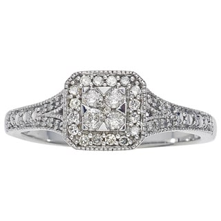10k White Gold 1/4ct TDW Diamond Promise Ring by Ever One