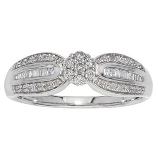 Sterling Silver 1/4ct TDW Diamond Engagement Ring (H-I, I2-I3)