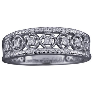 Sterling Silver 1/4ct TDW Diamond Antique Band by Ever One