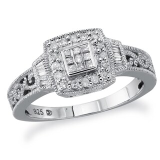 Sterling Silver 1/4ct TDW Diamond Promise Ring (H-I, I2-I3) by Ever One