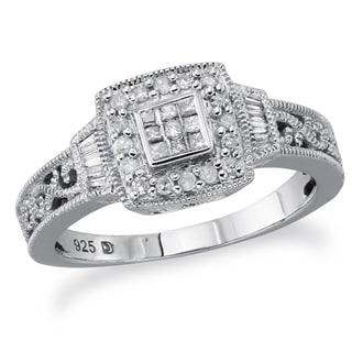 Sterling Silver 1/4ct TDW Diamond Promise Ring (H-I, I2-I3)