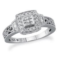 Sterling Silver 1/4ct TDW Diamond Promise Ring by Ever One