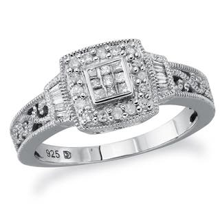 Sterling Silver 1/4ct TDW Diamond Promise Ring by Ever One|https://ak1.ostkcdn.com/images/products/12917379/P19672035.jpg?impolicy=medium