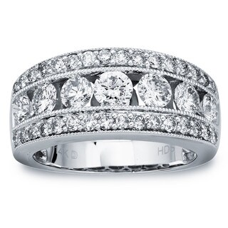 14k White Gold 2ct TDW Diamond Wedding Band by Ever One