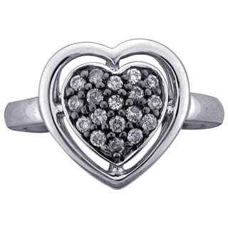 Sterling Silver 1/4ct TDW Diamond Heart Ring (H-I, I1-I2)